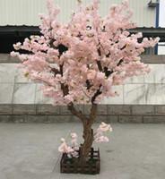 ingrosso fiore artificiale di qualità-Nuovo Desgin all'ingrosso e alta qualità artificiale Cherry Blossom Tree con dimensioni H2mxB2m in diversi colori