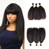 Wholesale bulks hair for cheap for sale - Cheap Bundles Kinky Straight Bulk For Braiding Natural Human Hair For Black Women G EASY