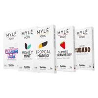 yeni varış başlangıç seti toptan satış-Myle Vape için yeni Varış 5 Çeşmeler MYLE Bakla Başlangıç Kiti Pil Cihazı cubano Mighty Nane Tropikal Mango Çilek tatlar