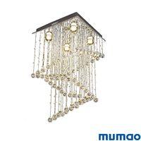 lámpara cuadrada de comedor al por mayor-Cristal moderno Colgante de luz Cromo K9 Colgante de cristal Iluminación cuadrada Cristal claro Interior Comedor colgante Luces de la lámpara Accesorios