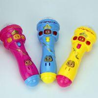 karaoke oyuncak toptan satış-2020 Yeni Parlayan Oyuncak Komik Kablosuz Mikrofon Model Hediye Müzik Karaoke Sevimli Mini Fun Çocuk Oyuncak