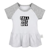 noivas caem vestido venda por atacado-Black Veil Brides Tripulação Fall Out Boy FOB Rock Band Projeto Bebê recém-nascido meninas Vestidos da criança roupas de algodão infantil