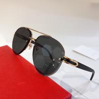 Wholesale vintage wood case for sale - Group buy 8200986 Sunglasses For Men Oval oval Frame Popular UV400 wood legs Men Designer Sunglasses Oversized Vintage Retro Style Come With Case