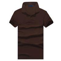 ingrosso business casual per gli uomini-Top abbigliamento New Polo uomo Polo Small Ricamo Business Casual solido polo maschile t-shirt manica corta traspirante