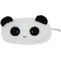 ingrosso panda borsa della moneta carina-2019 qualità durevole piccola moda carino peluche panda penna matita caso trucco cosmetico borsa portamonete portamonete