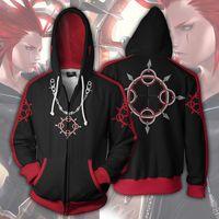 Wholesale sora cosplay for sale - Japan Anime Kingdom Hearts Sora Hoodie Sweatshirts Zip Up Jacket Coat Cosplay Costume For Men