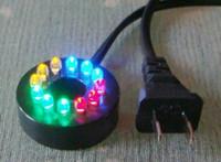 ingrosso illuminazione fontana sommergibile-12 LED impermeabili diametro 0,6 pollici foro interno colori cambiando sommergibile anello fontana pompa acqua fontana illuminazione acquario
