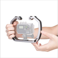 Wholesale boots camera resale online - New Small ant hill dog GoPro sport camera dual headed hot boots light bracket handle diving hand stabilizer