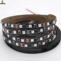 fita preta levou luz de tira venda por atacado-5M 30 / 60LEDs / M 2811 Pixels Programável Individual endereçável Faixa de LED luz WS2811 5050 RGB 12V LED Black Light Tape