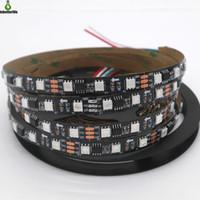 Wholesale black ws2811 led strip resale online - 5M LEDs M Pixels Programmable Individual Addressable LED Strip light WS2811 RGB V Black LED Tape Light