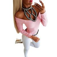 Wholesale blouse bows resale online - Lossky Korean Version Women Shirt Winter O Neck Bodycon Sexy Blouse Autumn Fashion Long Sleeve Slim Bow Tops Blouses Female