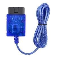 obd2 cable usb renault achat en gros de-Livraison gratuite KWOKKER Vgate Numérisation USB ELM327 OBD2 OBD 2 Numérisation Câble d'interface USB ECU de voiture Outil de diagnostic Scanner Lecteurs de codes de voiture Outils de numérisation