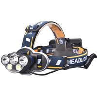 Wholesale t6 headlight for sale - Group buy 12000 Lumens Hunting Headlamp x XML T6 COB LED Headlight Head Torch Lamp Camping Zoom Head Light Flashlight Battery USB Charger