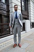сейчас платья оптовых-Мужской костюм мужская повседневная мода костюм из трех частей костюм (куртка + брюки + жилет) теперь популярные новые мужские бизнес платье на заказ
