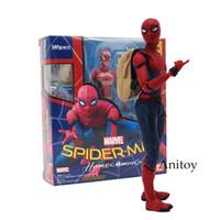 ingrosso giocattolo di ragno diy-Shfiguarts Spiderman Variant Spider-man: Homecoming Variable Spider Man Pvc Action Figure Modello da collezione Toy Doll 14cm Y19051804
