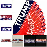 banderas de espejo al por mayor-Trump pegatinas de coche 13 estilos 76 * 23 mm Keep Make America Great Again Donald Trump Stickers Pegatina para parachoques Artículos de la novedad 10 unids / set OOA6901