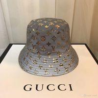 Wholesale straw garden resale online - 2019 luxury fashion casual designer bucket hat outdoor camping hunting hat summer sun beach fishing hat