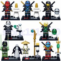 Wholesale jay toy for sale - Group buy Ninja Building Blocks Brick Cole Kai Jay Lloyd Nya Skylor Zane Pythor Chen Ninjagoed Figures Kids Toy Compatible l