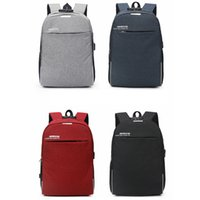 Wholesale laptop theft online - Fashion Men USB Charge Backpack Outdoor Travel Business Unisex Anti Theft Laptop Backpacks Teenage School Book Bags LJJT477