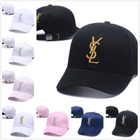 Wholesale shades for girls for sale - Group buy Black baseball cap YSL for boys and girls Sun shading of the Duck tongue Cap with the Rose Letter Chao Brand Hanjiao Edition