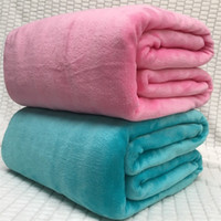 Wholesale bedspreads for king beds for sale - Warm Flannel Fleece Blankets Soft coral fleece Solid Blankets baby Solid Bedspread Plush autumn Winter Throw Blanket for Bed Sofa