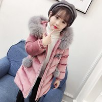 Wholesale chinese style quilts resale online - Foreign girls in the long section of cotton padded cotton clothes corduroy cotton quilt years old