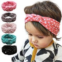 Wholesale sell new accessories resale online - Hot Selling Girls Head Hair Bands New Fashion Dot Cross Children Weave Twist Headband Baby Hair Accessories Fast
