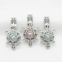 Wholesale pendants lovely pearl for sale - Group buy 10pcs Silver Lovely Turtle Tortoise Pearl Cage Jewelry Pendant Perfume Essential Oil Diffuser Lockets Necklace Charms for Oyster Pearl