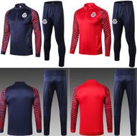 chaquetas de uniforme al aire libre al por mayor-19 20 Chivas Chándales de fútbol Pantalones de suéter de fútbol para adultos Pantalones de invierno de calidad tailandesa Traje de entrenamiento deportivo Uniformes de abrigo