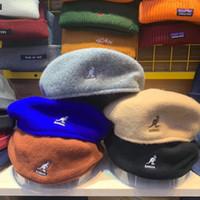 ingrosso berretto da lana derby-Kangol ricamo Cap cappello di inverno Beret donne degli uomini Berret Coreano Francese dello strillone Caps signore di lana Carino Vintage Hip Hop Harajuku Outdoor Beanie