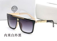 neue schatten männer großhandel-2019 0Versace New Luxury Polarized Sonnenbrillen Herren Driving Shades Herren Sonnenbrille Vintage Driving Classic Sonnenbrille Herren Goggle