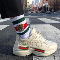 sevgililer günü için hediyeler toptan satış-Sevimli Kaplan Nakış Çift Marka Çorap Moda Kişilik Severler Elastik Spor Çorap Doğum Günü Hediyeleri Erkek Kadın Rahat Çorap