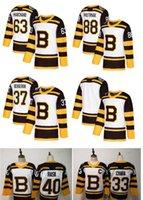 nhl boston toptan satış-2019 Kış Klasik NHL Boston Bruins Jersey David Pastrnak Patrice Brad Marchand Zdeno Chara Tuukka Törpü Boş Beyaz Dikişli Hokey