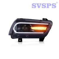 ingrosso caricabatteria dell'automobile-Car Styling di alta qualità Sinistra Destra Lampada frontale con Proiettori a doppio raggio LED per Dodge Charger 2011-2014
