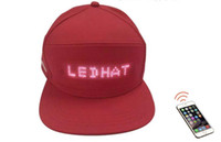 Wholesale light words for sale - Group buy Flash word LED advertising cap light wireless send LED hat screen word scrolling Bluetooth connection birthday gift