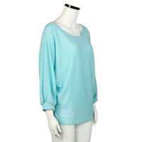 ingrosso maglioni oversize pullover per le donne-maglione donne maglione Top autunno donne oversize Batwing maglione pullover allentato maglione d90705