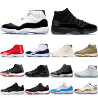 huge selection of 65bf7 ceb07 Nike Air Jordan 11 Retro 11 11s Chaussure de basketball Concord 45 Cap  Platine et robe pour hommes UNC Gym Red Gamma Bleu Olive Lux Trainer Sport  Sneaker
