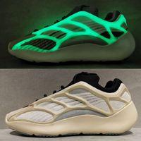 Wholesale shoes luminous resale online - s V3 White Glow Noctilucent Men Women Kanye West Carbon Designer Shoes Luminous Runner Running Sports Sneakers Cheap