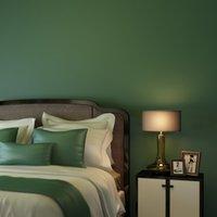 düz yatak odası duvar kağıdı toptan satış-Yüksek Kaliteli Modern Basit Nordic Düz Saf Wallpaper Amerikan Retro Koyu Yeşil Nonwoven Salon Yatak odası Kalınlaşmak TV Duvar kağıdı