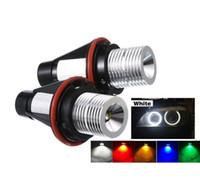 Wholesale bmw e65 lights resale online - LED Angel Eyes Light For BMW E39 E53 E60 E61 E63 E64 E65 E66 E87 i i xi i