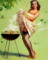 Wholesale decor screens for sale - Group buy Gil Elvgren Smoke Screen Home Decor Handcrafts HD Print Oil Painting On Canvas Wall Art Canvas Pictures