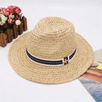 sombreros de ala para la venta al por mayor-Little Bees Sombreros de diseño Gorras Hombres Mujeres Sombreros de ala ancha Sombreros de lujo Sombrero de playa de verano Gorra de marca Novedad Venta caliente Sombrero de hierba Top de alta calidad