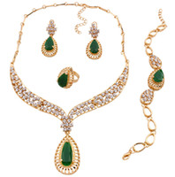 Wholesale gold plated costume jewellery for sale - Group buy 2019 African Jewelry Set Dubai Gold Silver Jewelry Sets For Women Round Wedding Jewellery Set Bridal Costume Accessories