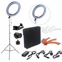 anillo de foto led al por mayor-video Fusitu 18 '' 240pcs 5500K Fotografía regulable Video LED Photo Ring Light Kit para cámara DSLR