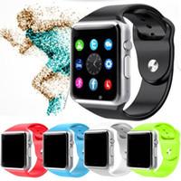 tf часы цена оптовых-Оптовые цены hotsell Смарт-Часы A1 Синхронизация Часов Поддержка SIM-карты TF-карты Подключение Для ios Android SmartWatch
