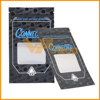 ingrosso chiusura lampo-Connected Carts Zipper Bag Ziplock Package Smell Proof Bags Only Pack di imballaggio Pack per Vape Zipper Stand Up sacchetti Dry Herb Vaporizzatore