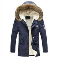 wolle parka männer großhandel-Herren winterjacke New Fashion Windproof Warm Wool Liner winterjacke Männer Mit Kapuze Parka Männer Mantel