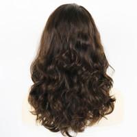 ingrosso capelli ebrei-24 pollici parrucche ondulate Kosher Raw capelli umani russi Cappuccio parrucca ebraica con parrucca di seta Top non pizzo
