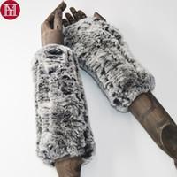 перчатки кролика перчатки оптовых-2018 Fashion Girl Natural Real Rex Rabbit Fur Gloves Хорошие Эластичные Трикотажные Варежки Из Меха Кролика Леди Real Rex Rabbit Fur Gloves D19011005