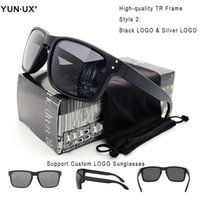 quadros pretos para homens venda por atacado-YUN.UX alta qualidade Atacado New Men Moda óculos polarizados Mulheres Óculos HD lente polarizada frete grátis
